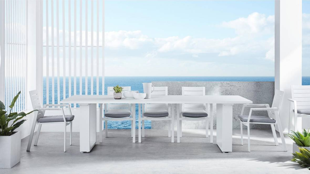 Retreat Outdoor Angled Leg Dining Table