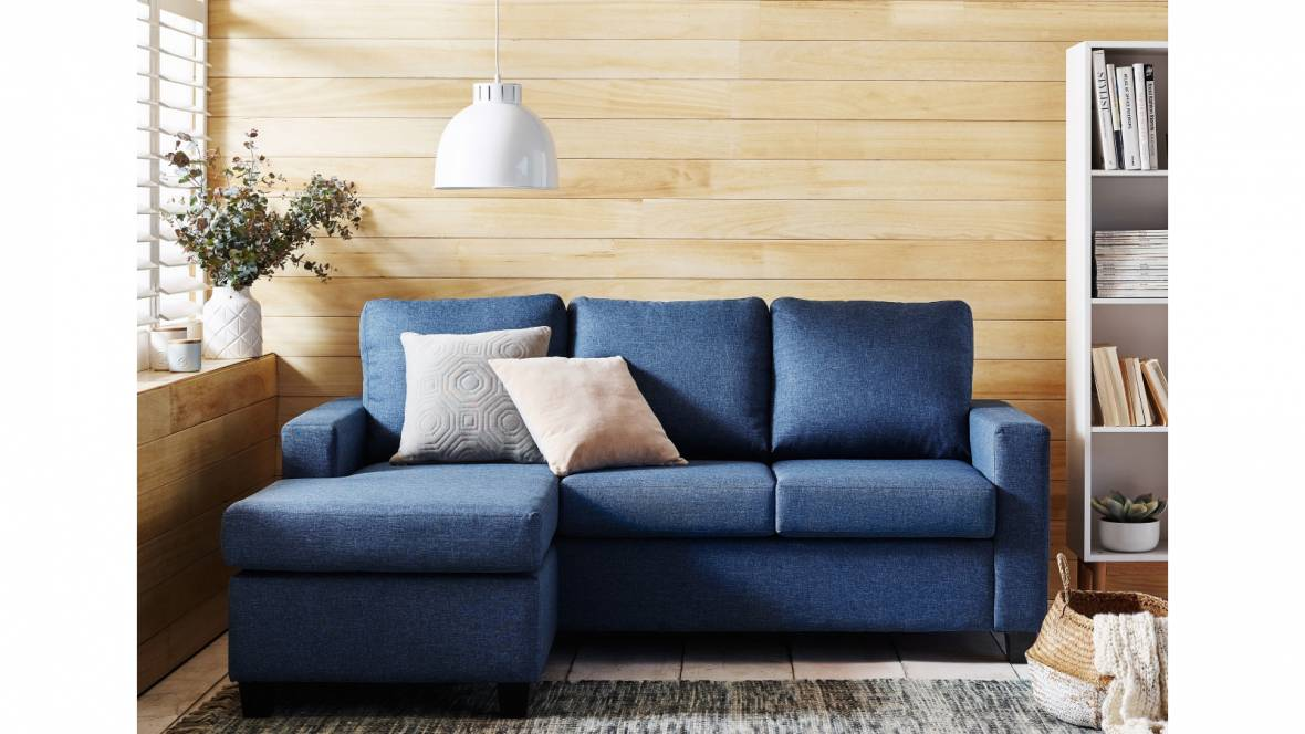 Newport Fabric 3-Seater Sofabed with Chaise
