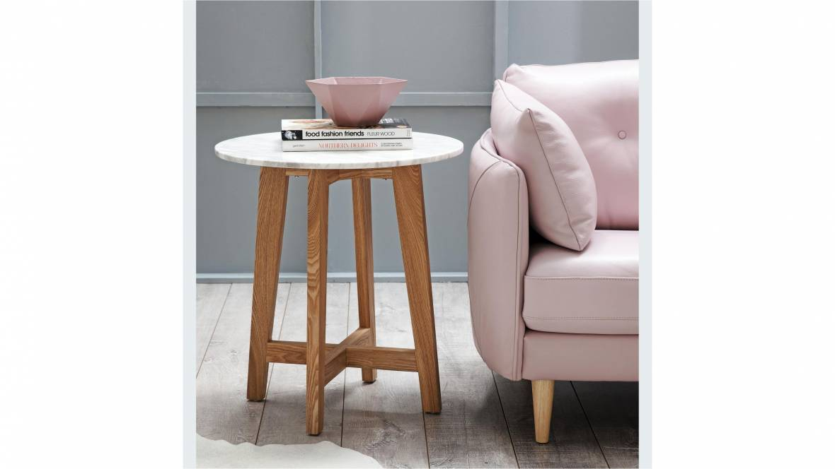 Blanco Lamp Table