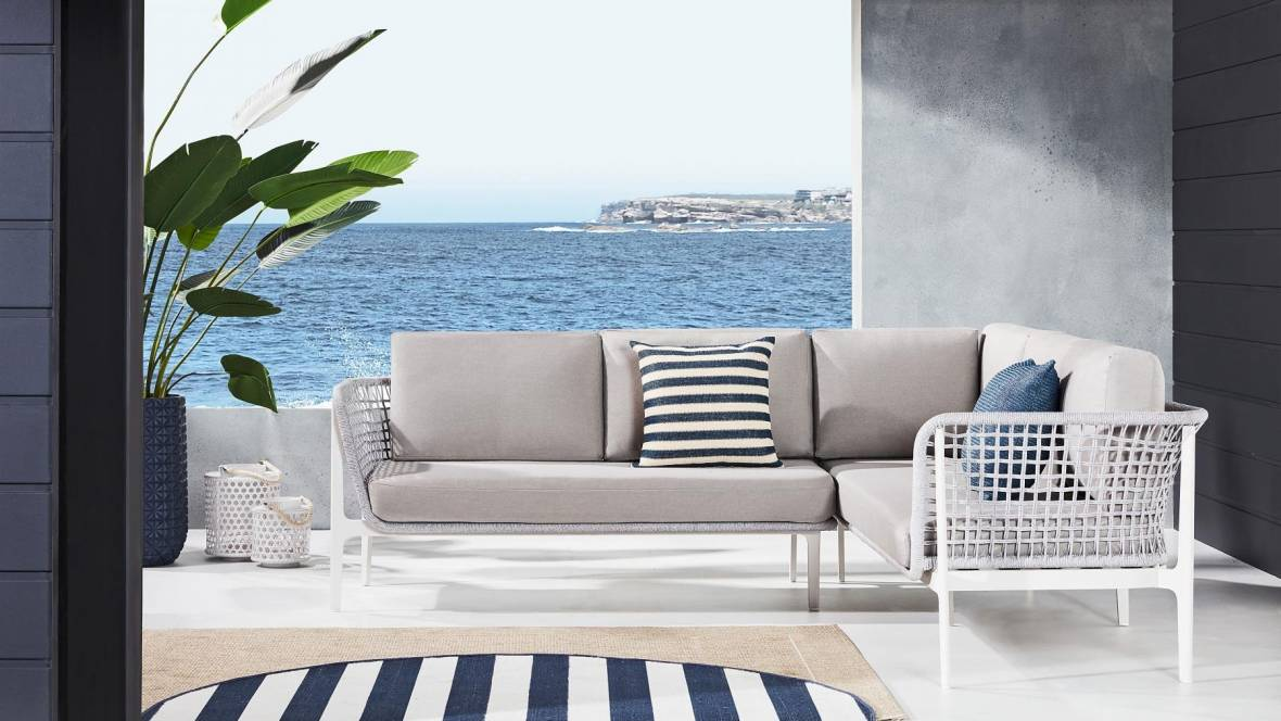 Buy Cian 2 Piece Outdoor Grey Lounge Setting Domayne Au
