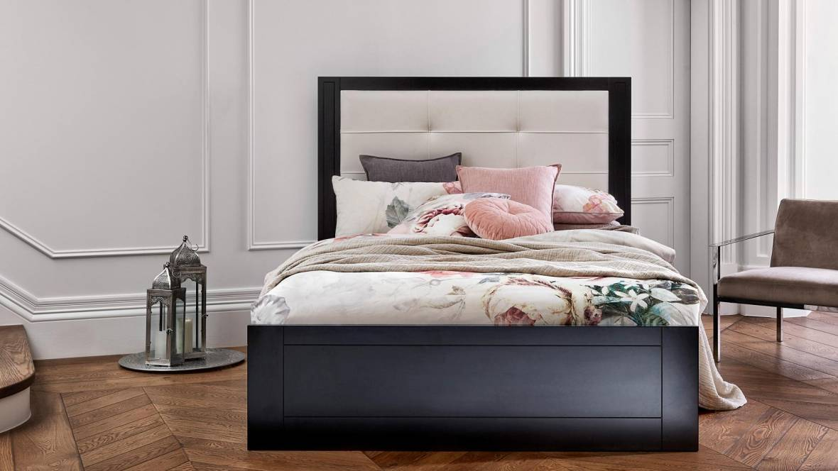 Montauk Bed with Upholstered Bedhead