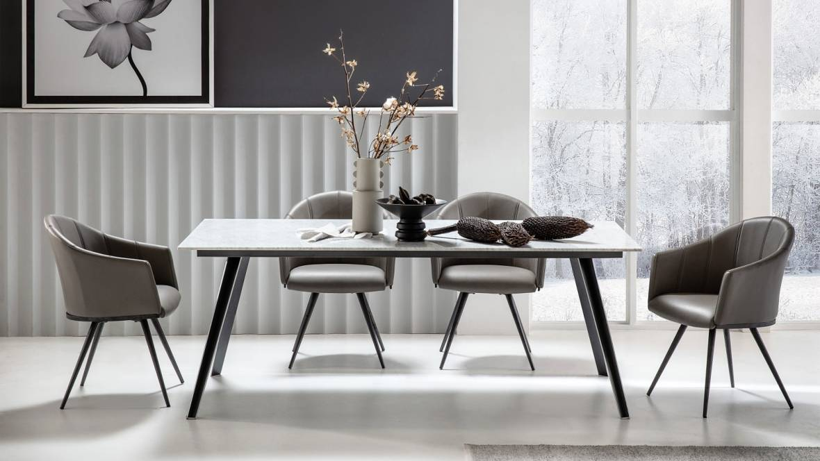 Buy Duomo Marble Rectangle Dining Table Domayne Au
