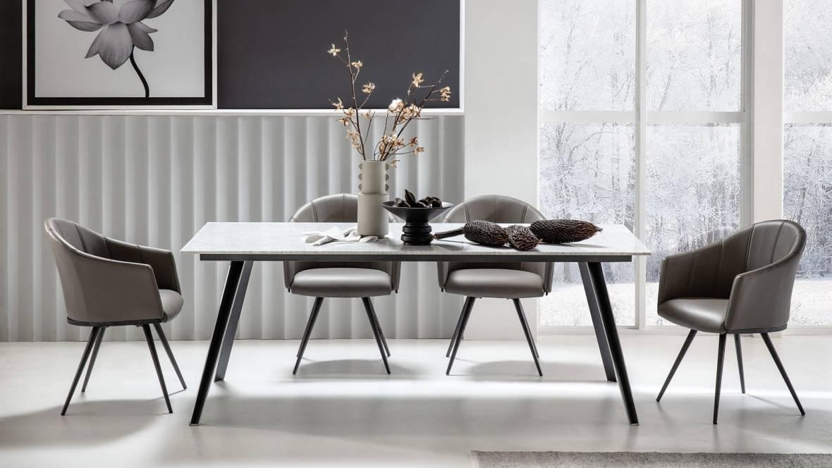 Buy Duomo Marble Rectangle Dining Table Domayne Au