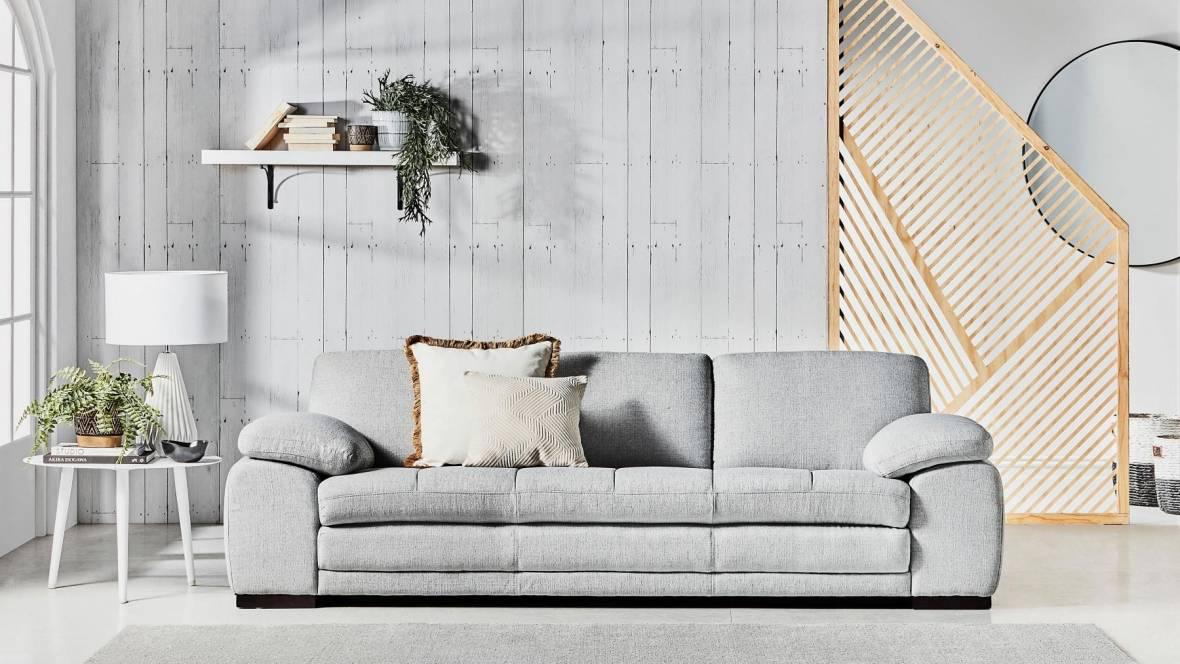 Buy Mia Fabric 3 Seater Sofa Domayne Au