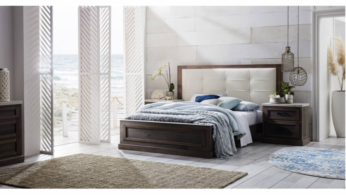 Buy Hamptons Bed Frame With Bedhead Domayne Au