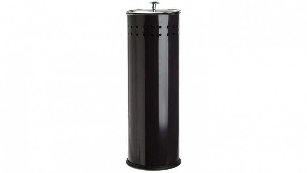Linen House Coated Stainless Steel Toilet Roll Holder - Black