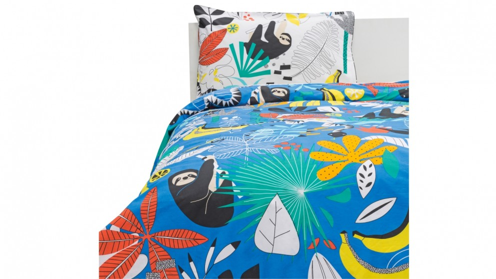 Hiccups Paolo Black Quilt Cover Set