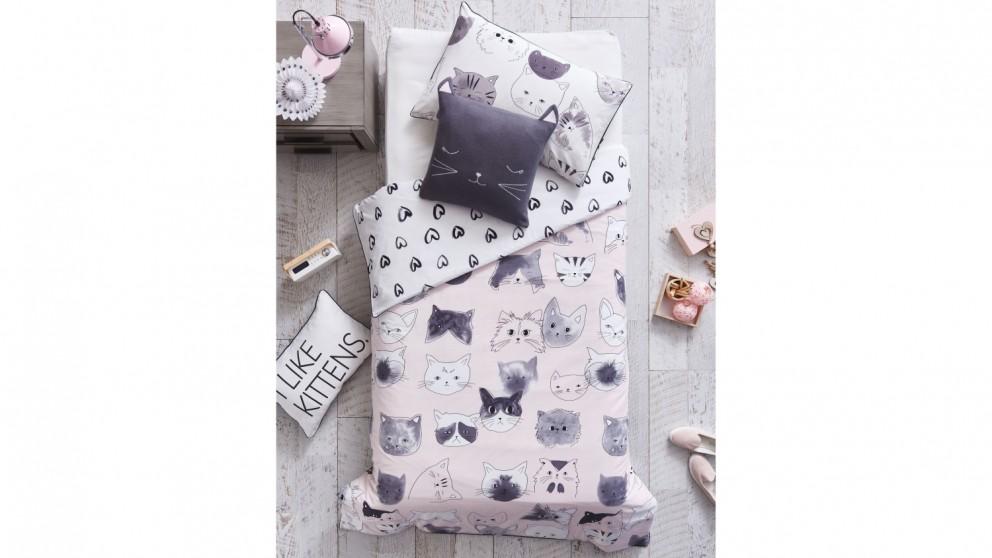 Linen House Kitty Cat Quilt Cover Set
