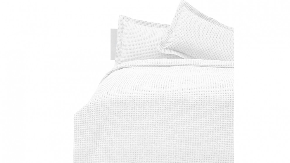 Linen House Deluxe Waffle - White
