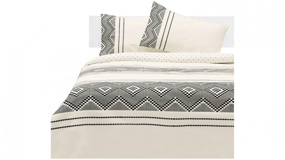 Linen House St Lucia Quilt Cover Set - Magnet
