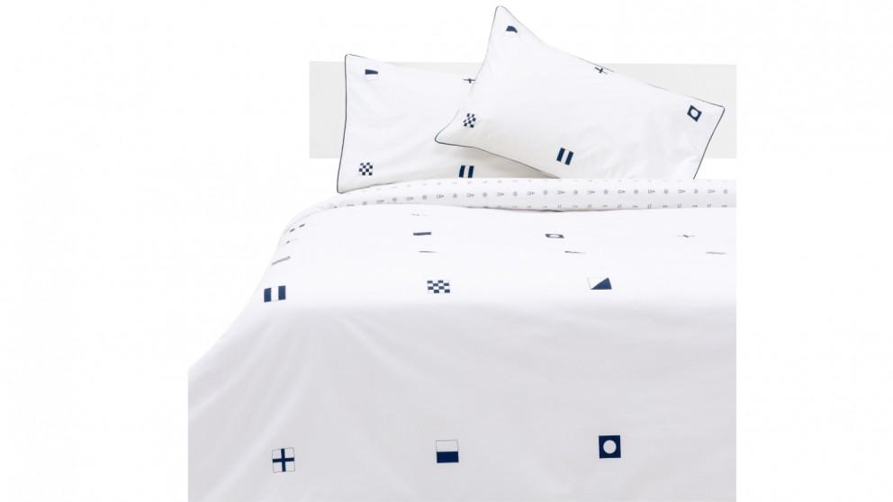 Linen House Semaphore Quilt Cover Set - Navy