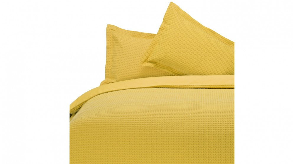 Linen House Waffle Quilt Cover Set - Pineapple