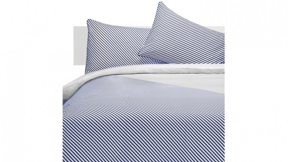 Linen House Titus Blue Quilt Cover Set