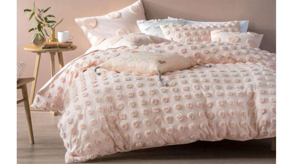 Linen House Haze Quilt Cover Set - Peach