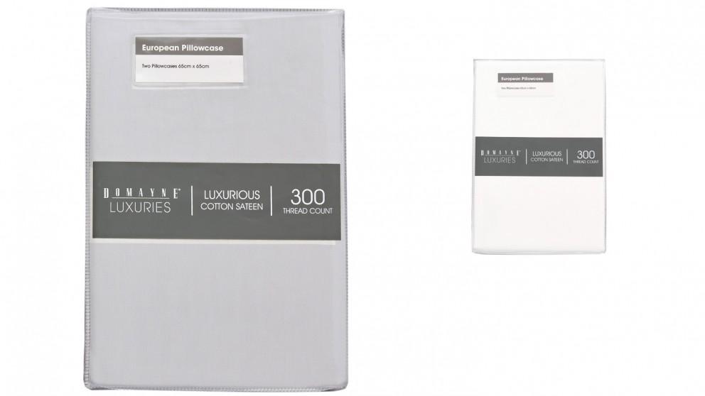 Domayne Luxuries 300TC Set of 2 European Pillowcases
