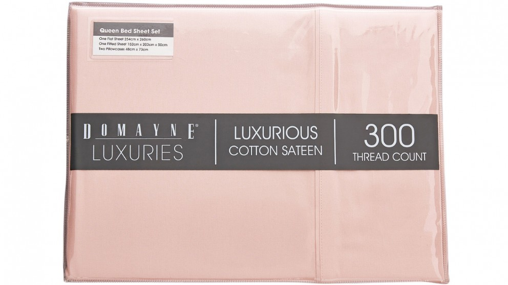 Domayne Luxuries 300TC Sheet Set - Blush