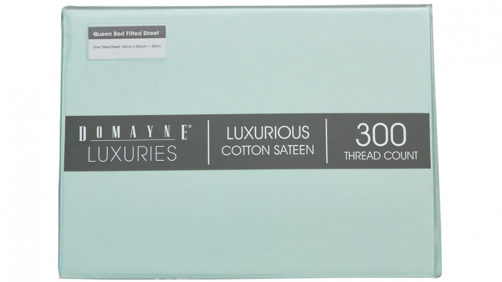 Domayne Luxuries 300TC Fitted Sheet - Mint