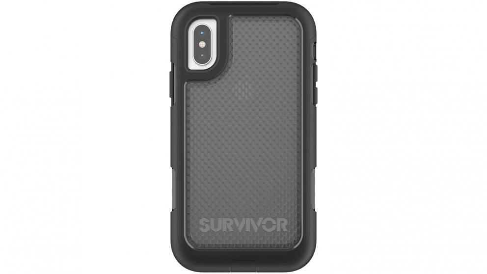 Griffin Survivor Extreme Case for iPhone X - Black/Tint