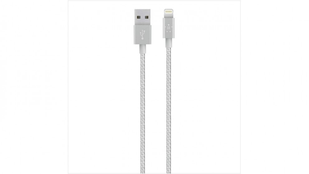 Belkin Premium 1.2m Lightning Cable - Silver