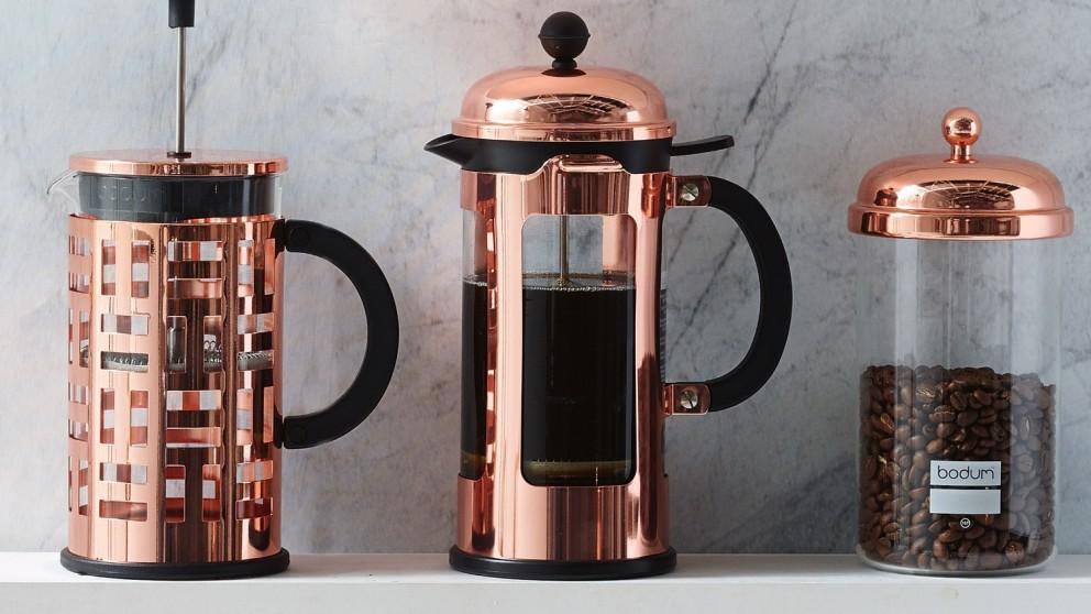 buy bodum chambord 8 cup french press copper domayne au. Black Bedroom Furniture Sets. Home Design Ideas