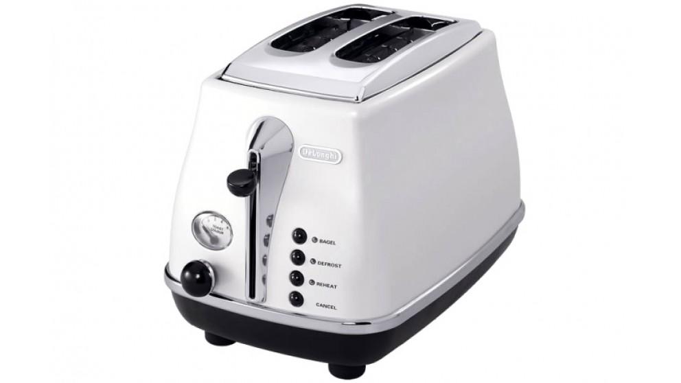 DeLonghi Icona 2 Slice Toaster - White