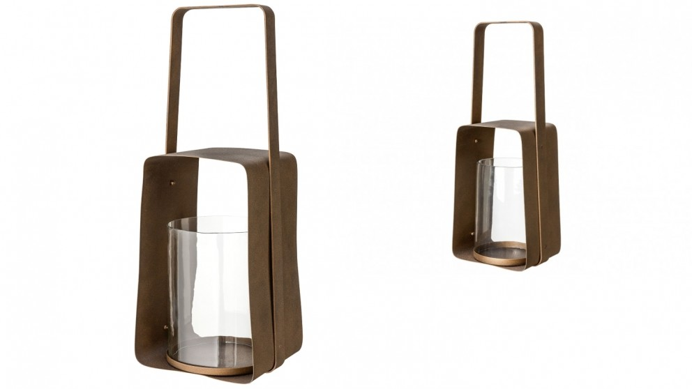 Construction Lantern - Bronze