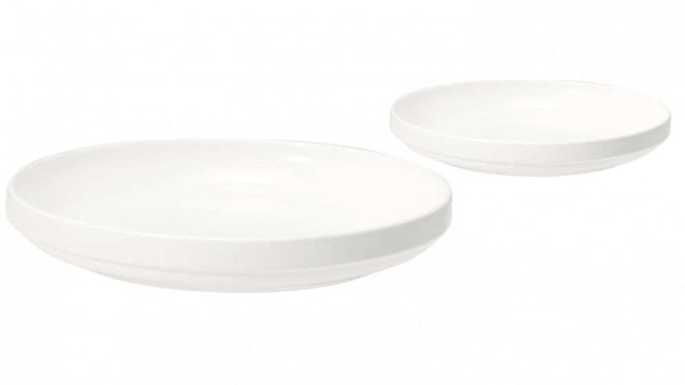 Mila Round Plate - White