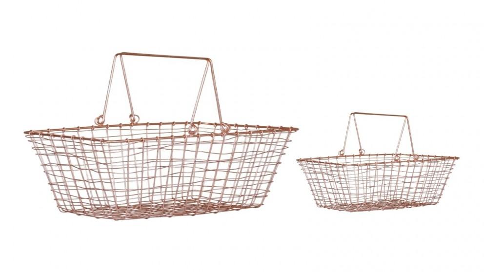 Robert Gordon Copper Shopping Basket