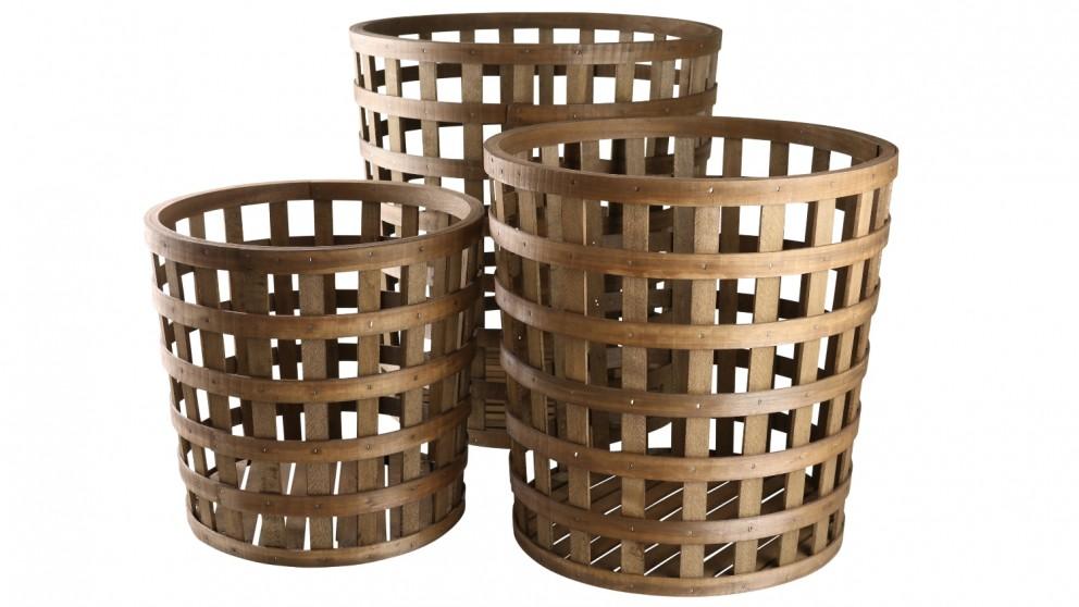 Robert Gordon Lattice Basket Set of 3