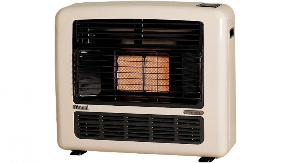 Rinnai Titan 151 Unflued LPG Radiant Convector Heater - Off White