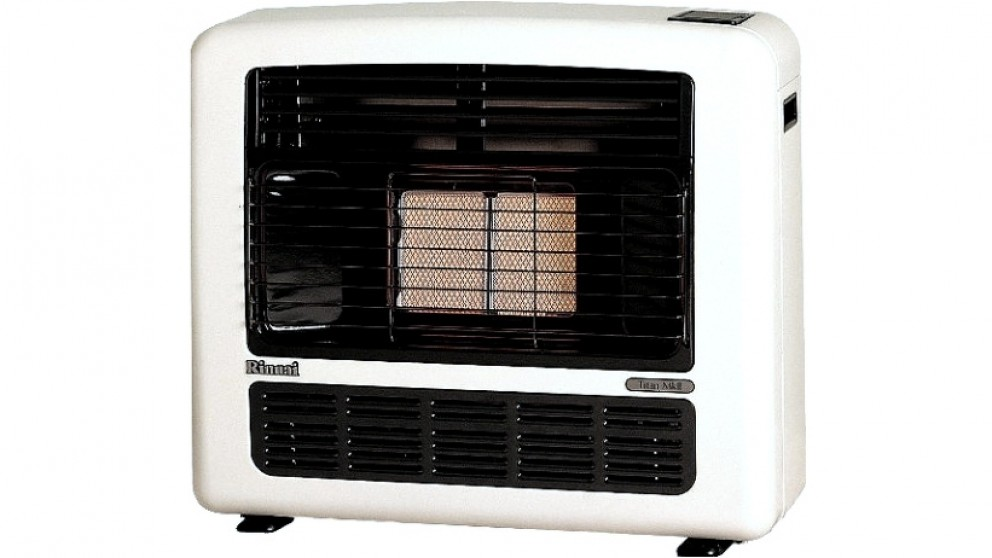 Rinnai Titan 151 Unflued Natural Gas Radiant Convector Heater - Platinum Silver