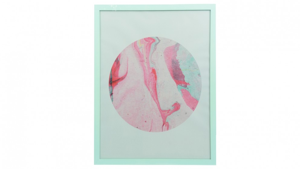 Marble Circle Framed Wall Art