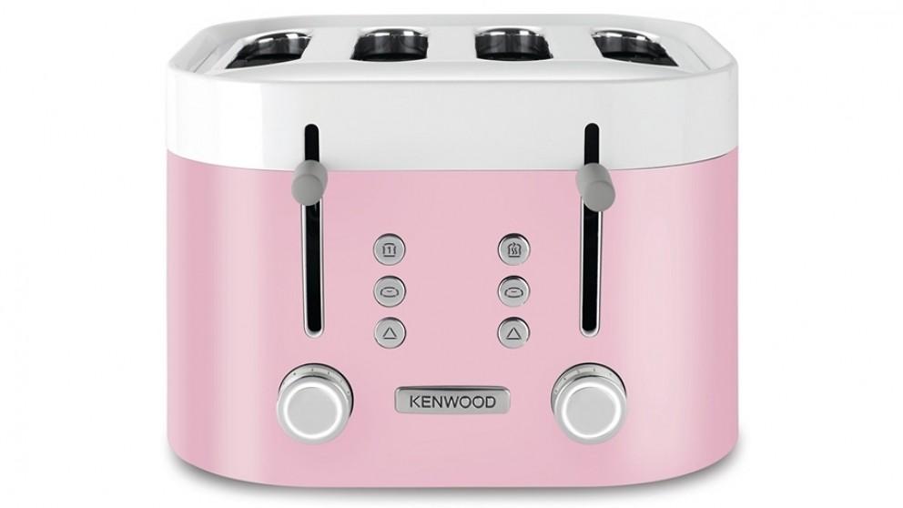 Kenwood KSense 4 Slice Toaster - White/Pink