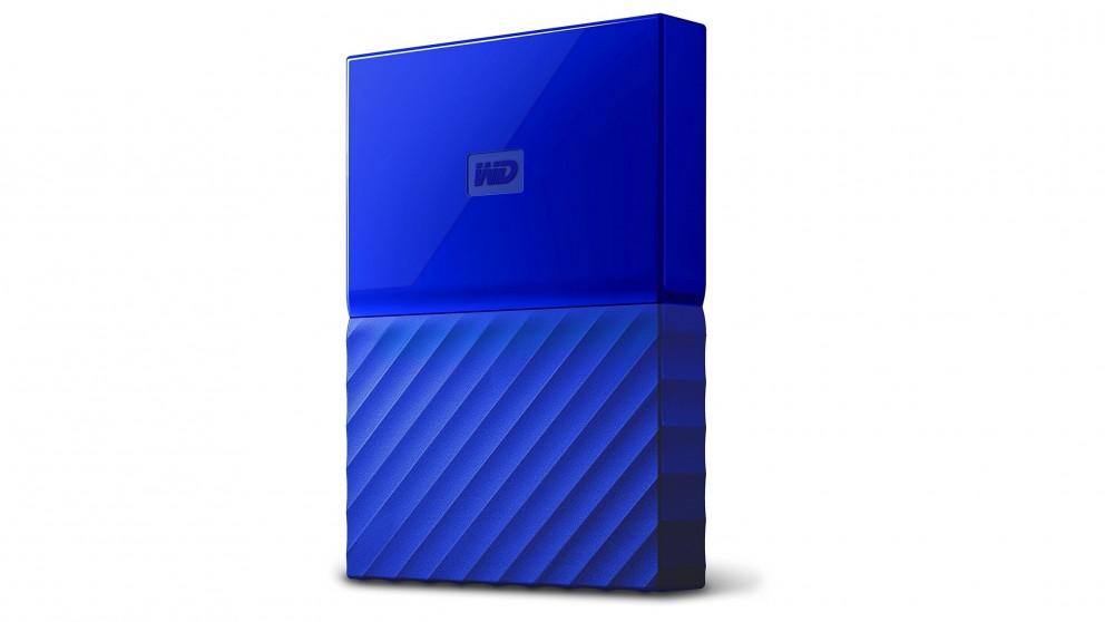 WD My Passport 2017 1TB Portable Hard Drive - Blue