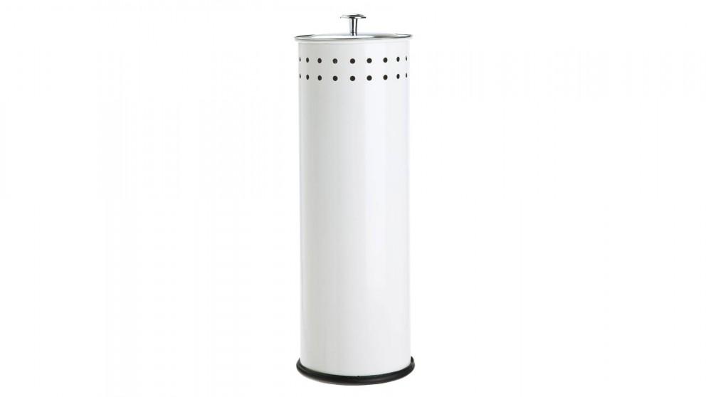 Linen House Coated Stainless Steel Toilet Roll Holder - White