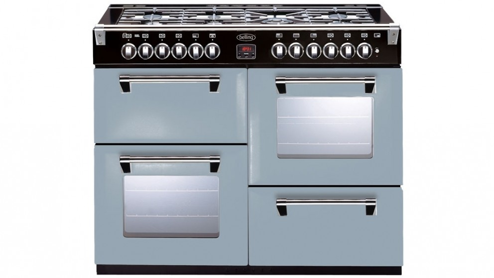 Belling 1100mm Richmond Colour Boutique Dual Fuel Range Freestanding Oven - Silver Sky