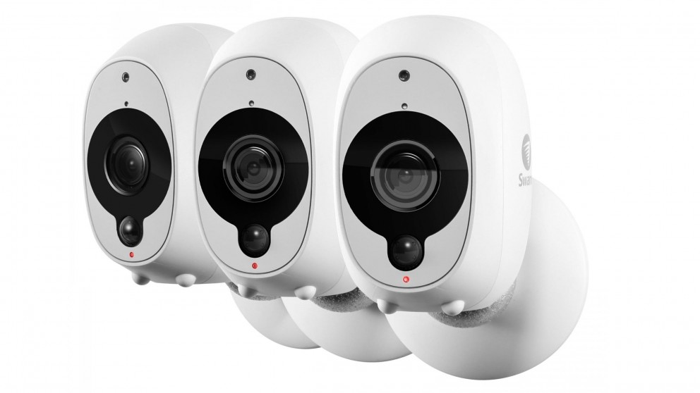 Swann SWWHD-INTCAMPK3  Smart Full HD Wireless Security Cameras - 3 Pack