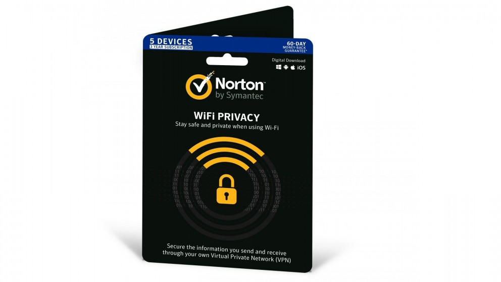 Norton WiFi Privacy - 3 Years for 5 Devices