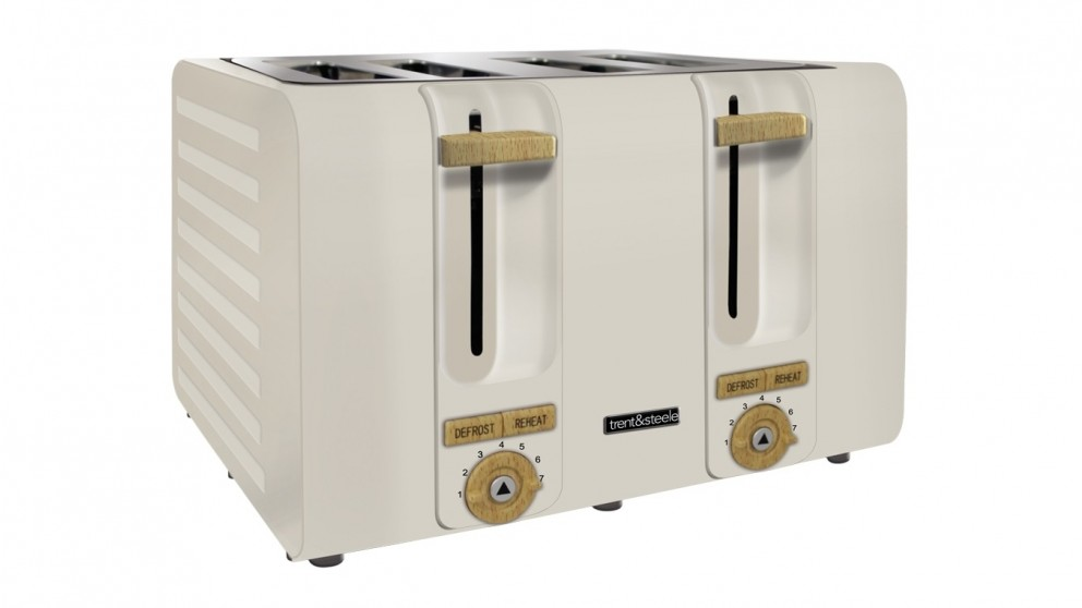 Trent and Steele Lagom Collection 4 Slice Toaster - Stone