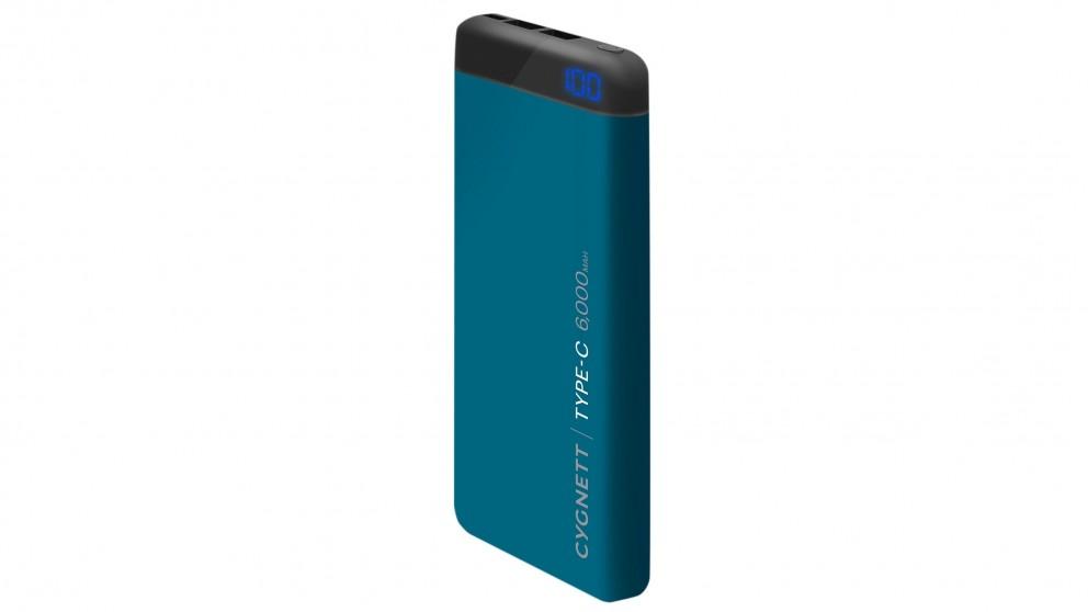 Cygnett ChargeUp Pro 6000mAh Power Bank - Teal