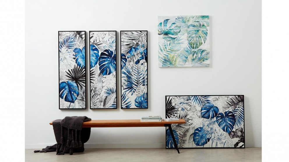 Blue Jungle 122x82cm Framed Print Wall Art