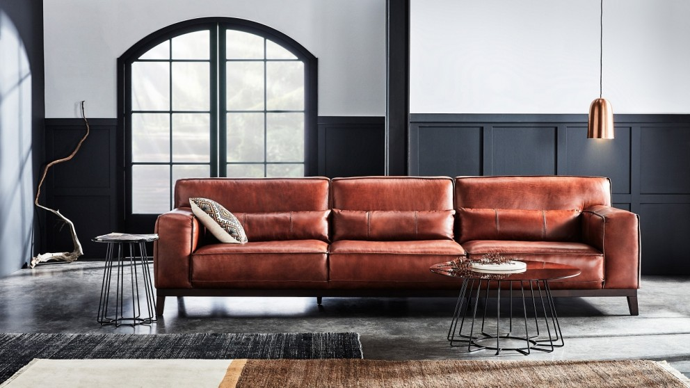 Buy Reno 3.5-Seater Leather Lounge