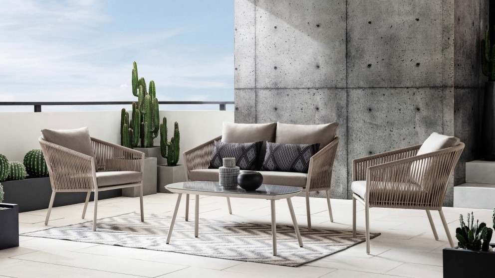 Alpin 4-Piece Outdoor Lounge - Taupe