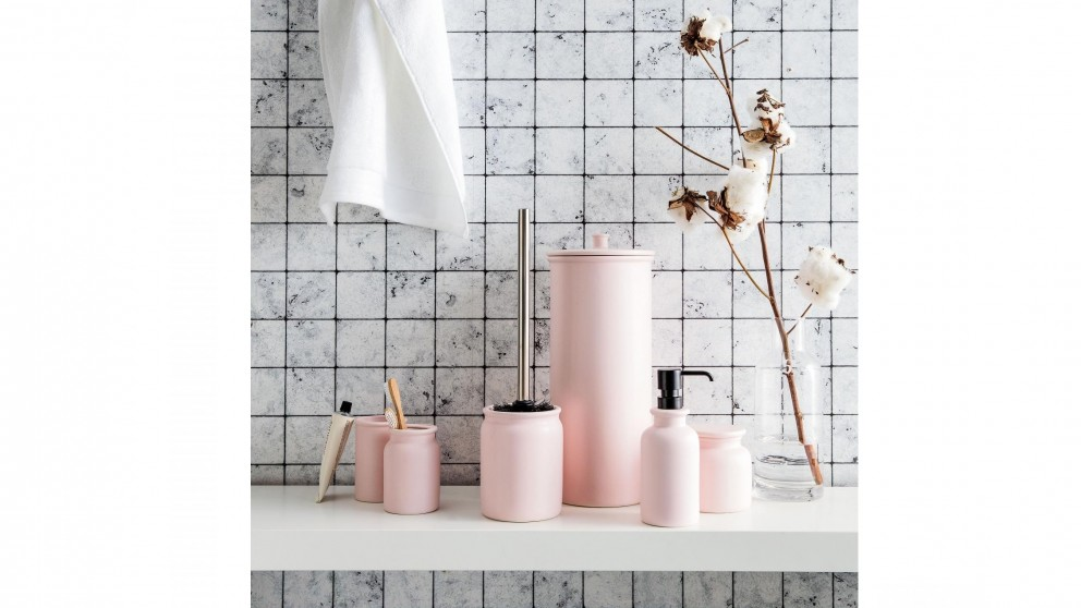 Linen House Marino Pink Bathroom, Pink Bathroom Accessories