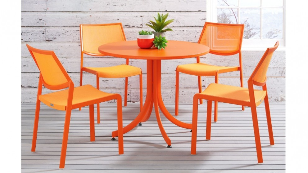 Stax Textilene Dining Chair - Orange  sc 1 st  Domayne & Buy Stax Textilene Dining Chair - Orange | Domayne AU