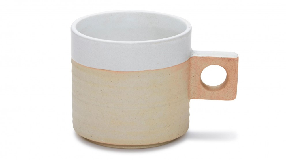 Salt & Pepper Nomad Mug with Square Handle - White