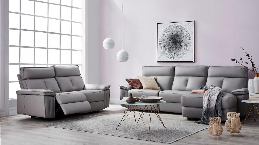 Hot Deals Corben Leather Lounge Domayne Au