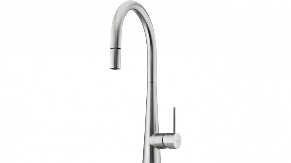 Oliveri Essente Goose Neck Pull Out Mixer - Stainless Steel