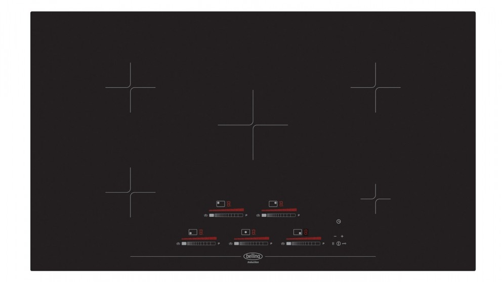 Belling 900mm Induction Touch Control Cooktop - Black