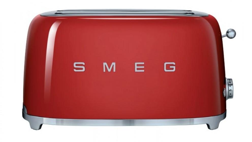 Smeg 50s Style Longslot Toaster - Red